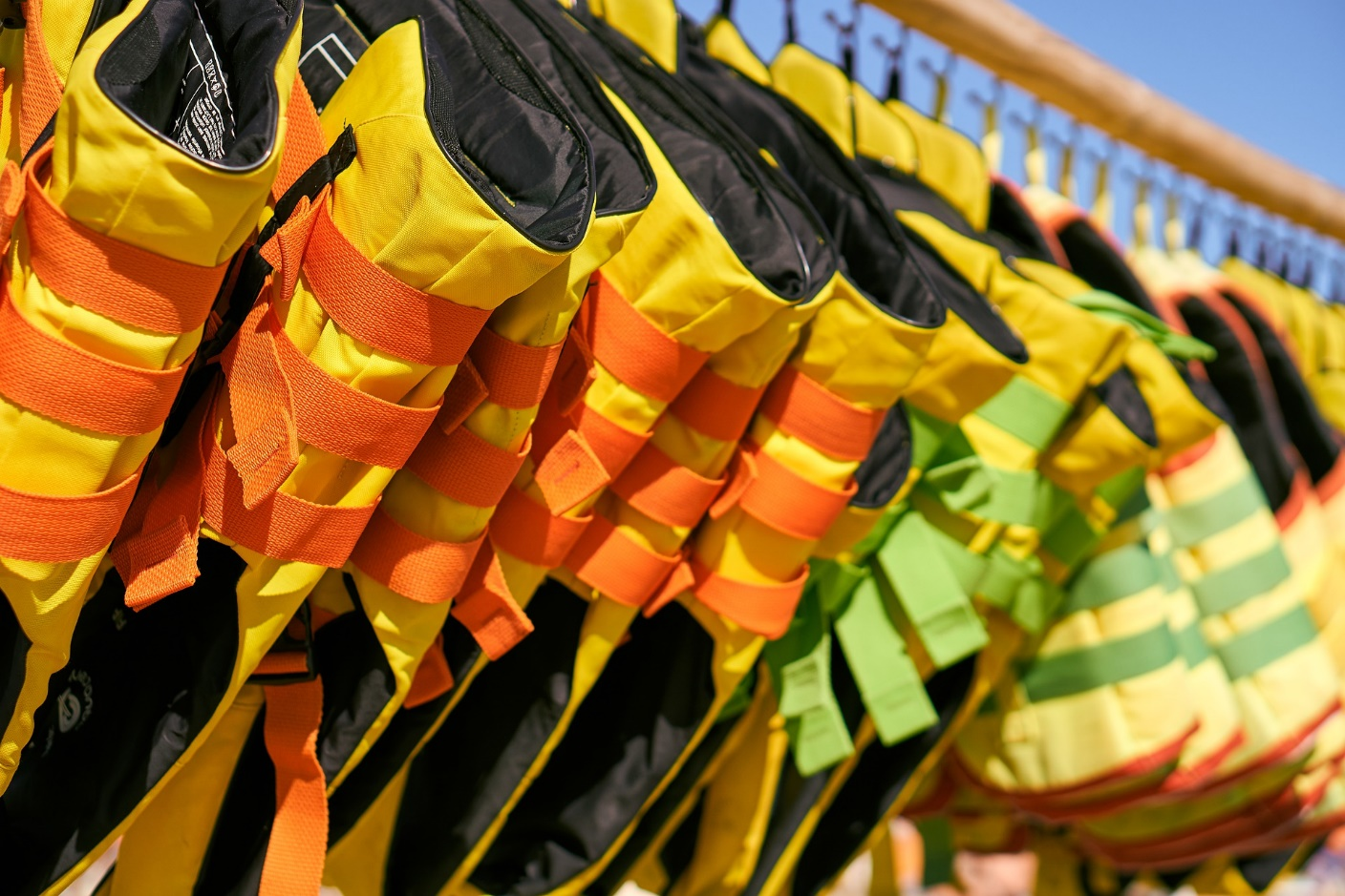 Lifejackets used in watersports safety